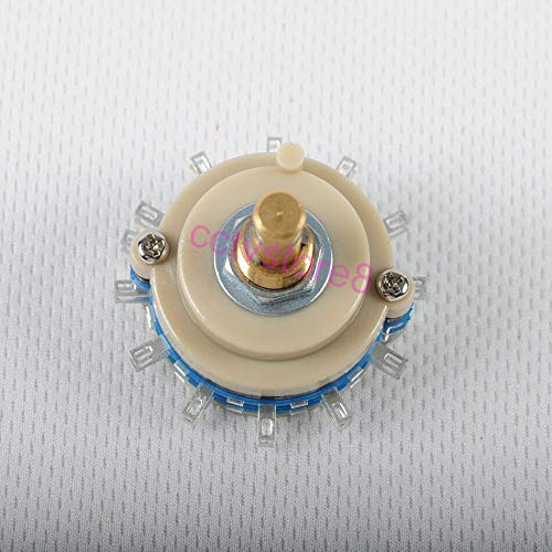 FidgetKute 2pole 12step Rotary Switch Attenuator Guitar Tube Amp Selector Volume Pot DIY ()