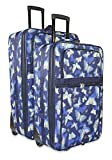 Navy Blue Butterfly 2 Piece Rolling Luggage Set