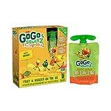 GoGo squeeZ Fruit & VeggieZ, Apple Yellow Carrot Banana, 3.2 Ounce Portable BPA-Free Pouches, Gluten-Free, 4 Total Pouches