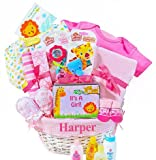 New Arrival in the Jungle | Personalized Baby Girl Gift Basket