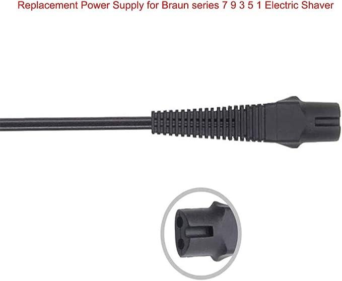 4G-Kitty 12V 400mA Fuente de alimentación Cargador para afeitadora para Braun Series 3 5 7 9 5030s 3040s 390cc ...