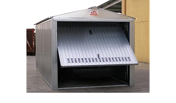 Sapil - Caseta de chapa galvanizada, con estructura de acero galvanizado y puerta basculante, 5, 07 x 2, 6 x 2, 11 m, modelo Sapilbox - -: Amazon.es: ...