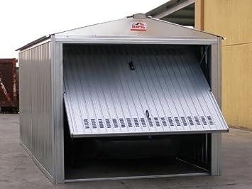 Sapil - Caseta de chapa galvanizada, con estructura de acero galvanizado y puerta basculante,