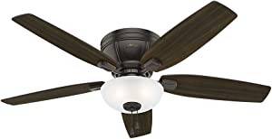 Hunter Fan Company Hunter 53379 Transitional 52`` Ceiling Fan with Light from Kenbridge Collection Dark Finish, Large, Noble Bronze