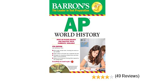 Barron's AP World History with CD-ROM, 5th Edition (Barron's AP ...