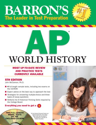Barron's AP World History with CD-ROM, 5th Edition (Barron's Study Guides)