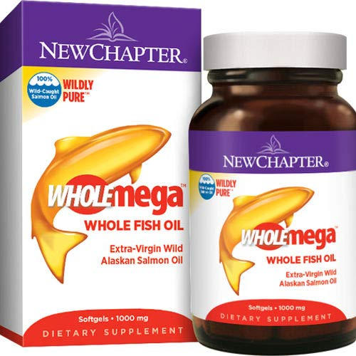 New Chapter Wholemega Whole Fish Oil, 180 Softgels . 1000mg