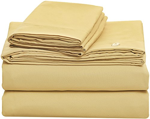 Bluedotsky Bedding Luxury Duvet Cover Set by Highest Quality Brushed Microfiber Bedding - Hypoallergenic - Wrinkle, Fade and Stain Resistant - Ultra Silky - 3 Piece King, Camel