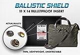 Bullet Proof Laptop Case Ballistic Shield 11''x14'' (150+ sq inch) Level IIIA