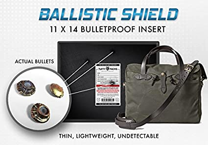 Bullet Proof Laptop Case Ballistic Shield 11in x 14in