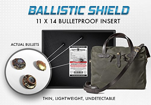 Bullet Proof Laptop Case Ballistic Shield 11''x14'' (150+ sq inch) Level IIIA by TuffyPacks