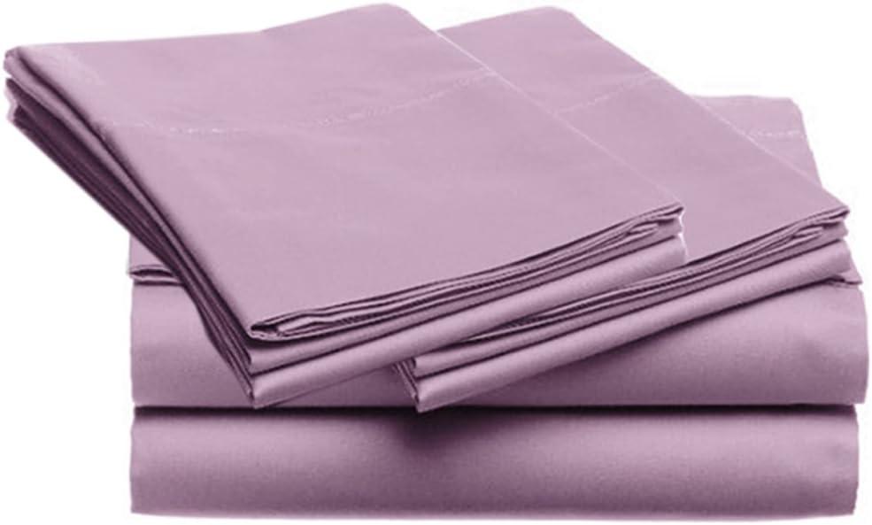 SUPER SOFT Microfiber Loft 21 Collection, FULL 4pc Sheet Set, 1-LOF21S-350, Solid PURPLE