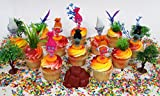 TROLLS Birthday Cupcake Topper Set Featuring Trolls and Friends Characters and Other Decorative Themed Accessories