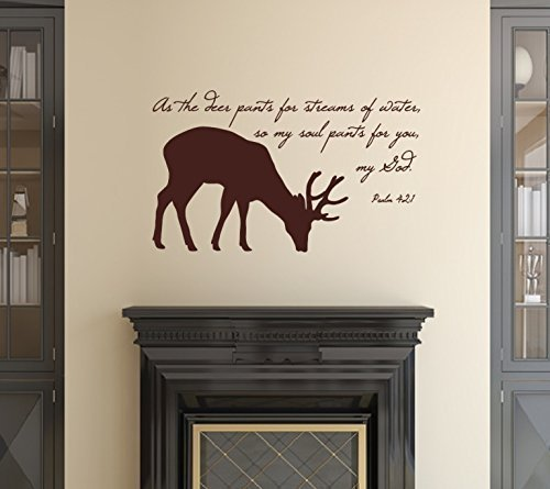 Bible Verse with Deer Silhouette Vinyl Wall Decal 22523 -
