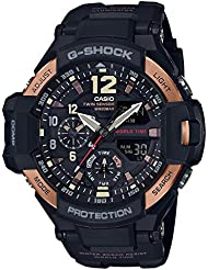 Casio  Mens GA1100RG-1A G-Shock Gravitymaster Black and Rose Gold-Tone Watch