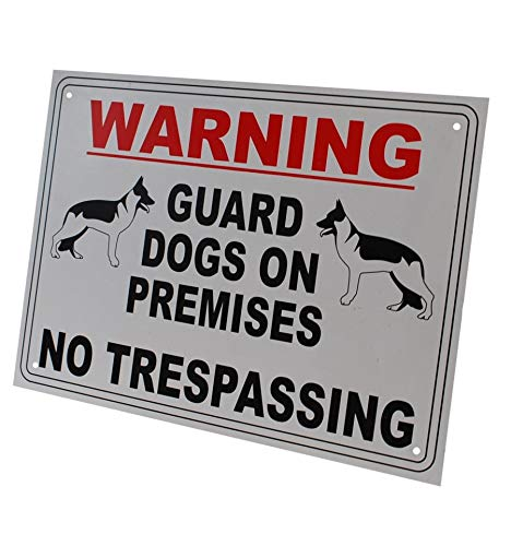 (External A4 'Guard Dog on Premises' Warning Sign)