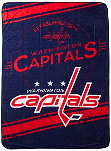 (The Northwest Company Officially Licensed NHL Washington Capitals Stamp Plush Raschel Throw Blanket, 60