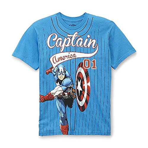 Captain America Boy's Baseball Tee-Shirt Size 10/12