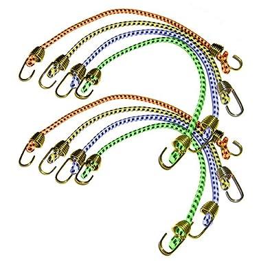 Keeper 06052 10  Mini Bungee Cord, 8 Pack