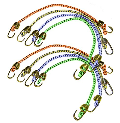 "Keeper 06052 10"" Mini Bungee Cord, 8 Pack"