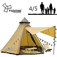 Vidalido 12'x10'x8'Dome Camping Tent 4-5 Person 4 Season...