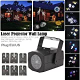4W Outdoor Led Christmas Projector Lights, Snowflake Show Light LED Landscape Film Light Snowfall Lamp Wall Lamp Moving Sparkling LED Lights for Xmas Halloween Party Wedding and Garden Decorations