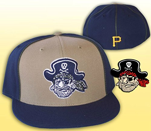 (Genuine Merchandise Pittsburgh Pirates Academy Fitted Size 8 Cooperstown Collection Hat Cap )