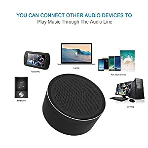 LINGYI Bluetooth Speaker | 18-Hour Playtime | Built-in Mic Free Calls | AUX Line & TF Card slot | 33-Foot Bluetooth Range | HD Sound and Bass Best Portable Speakers (Black)