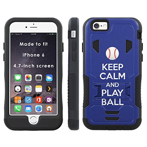 [Keep Calm and Play Ball - Los Angeles - Mobiflare iPhone 6 iPhone 6S (4.7 inch Screen) Flak Jacket Dual Armor with Kick-stand] (Dodgers Mlb Flak Jacket)