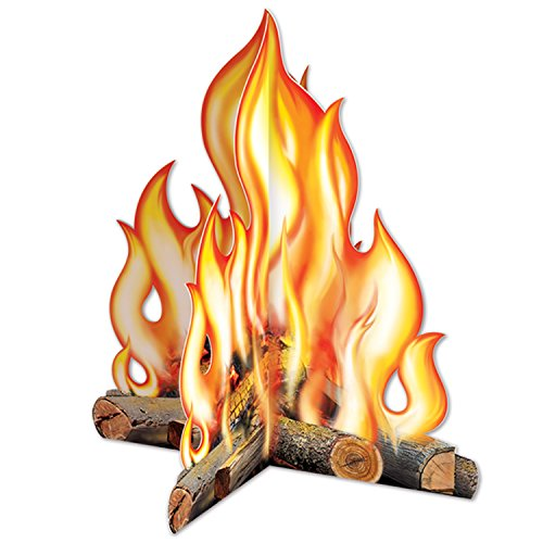 Beistle Company 57322 3-D Campfire Centerpiece - Pack of 12]()