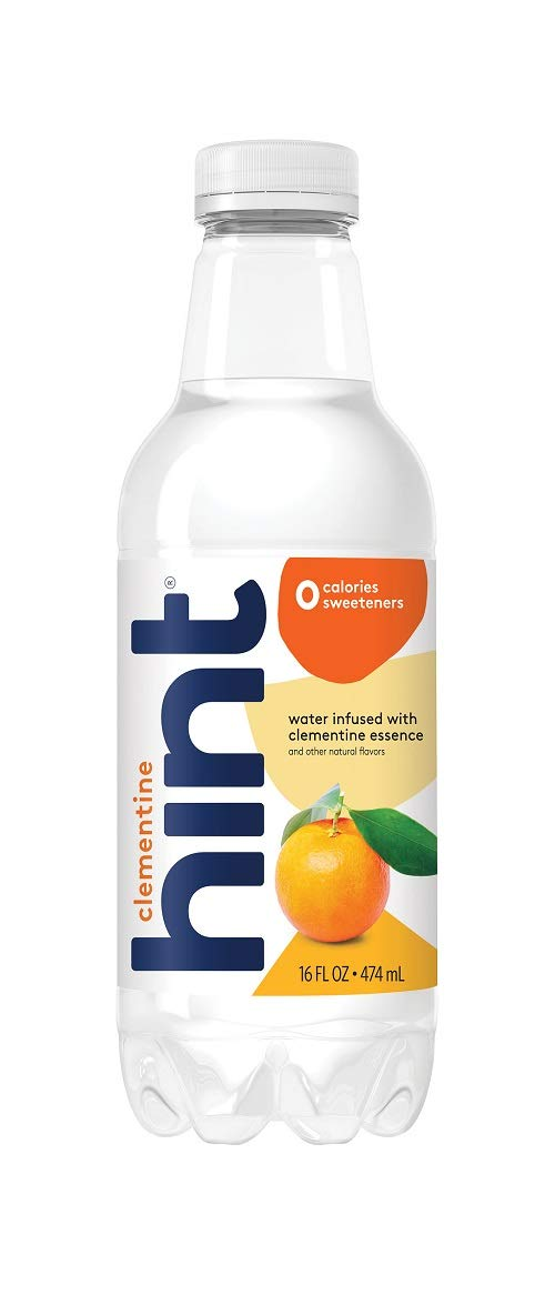 Hint Water Clementine (Pack of 12), 16 Ounce Bottles, Pure Water Infused with Clementine, Zero Sugar, Zero Calories, Zero Sweeteners, Zero Preservatives, Zero Artificial Flavors