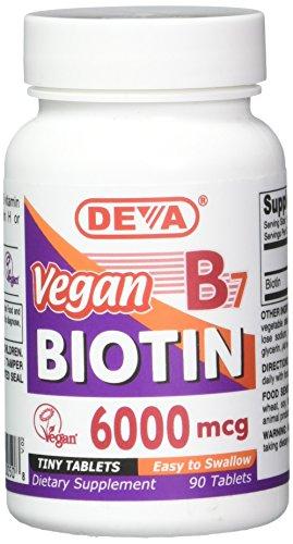 Deva Vegan Vitamins Biotin 6000 mcg Tablets, 90Count