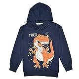 CARGI Toddler Boys Pullover Hoodies,Cool Dinosaur Printing Long Sleeve Hooded Sweatshirts
