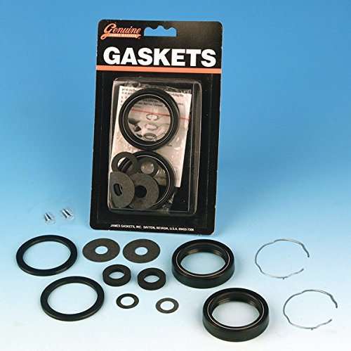 Replace Fork Seals (Genuine James Front Fork Seal Rebuild Kit JGI-45849-49-A)