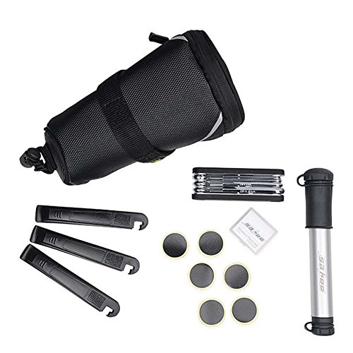 Xuans Shop Sahoo Mtb Bike Cycling Tools Mini Crowbar Repair Pump Tire With Rear Bag Set Kit