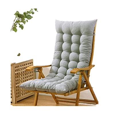 Cool Jiaqi Thicken Rocking Chair Indoor Seat Cushions One Piece Chair Pad With Ties Tailbone Pain Back Pain Tatami Light Grey 48X120Cm 19X47Inch Gamerscity Chair Design For Home Gamerscityorg