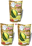 Thai Soft delicious dry fruits dry durian , tasty dried fruits, Perfect snacks food from Kingdom Thailand, 泰好吃 榴莲干 - Durian 3pack