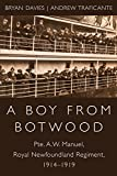 img - for A Boy from Botwood: Pte. A.W. Manuel, Royal Newfoundland Regiment, 1914-1919 book / textbook / text book