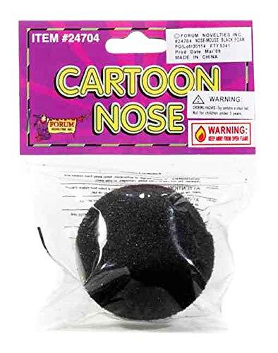 (Forum Novelties Black Foam Nose Clown Mouse Animal Mickey Minnie Halloween Costume)