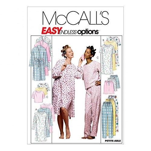McCalls Ladies Easy Sewing Pattern 2476 Dressing Gown, Nightgown & Pyjamas