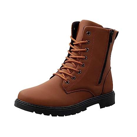 Botas de Cuero para Hombre,ZARLLE Moda Invierno Botas de Nieve Botas para Hombre Militares