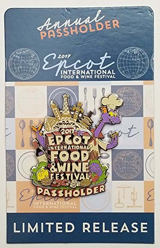 WDW Trading Pin - Epcot International Food and Wine Festival 2017 - Annual Passholder - Figment (Epcot International Food And Wine Festival 2017)