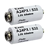 Exell Battery A24PX 3-Volt Alkaline Battery (2 Pack)