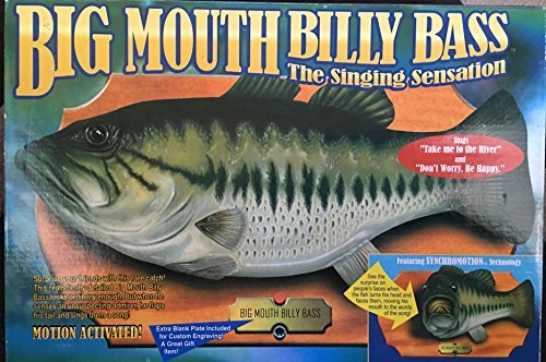 The Original Big Mouth Billy Bass Singing Sensation Fish Motion (Big Mouth Bass)