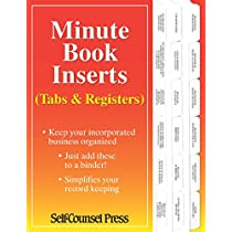 Minute Book Inserts: Tabs & Registers