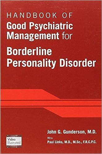 Book Handbook of Good Psychiatric Management for Borderline Personality Disorder by John G. Gunderson (2014)