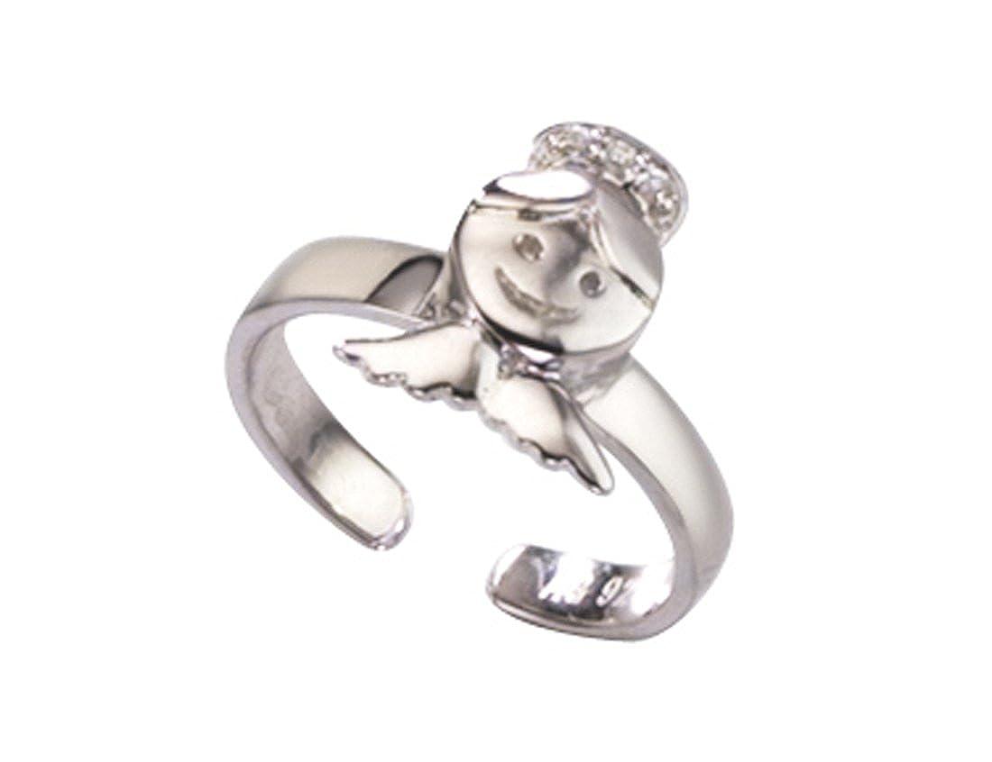 Kinderschmuck Ring Schutzengel mit Zirkonia aus 925 Sterlingsilber in schönem Geschenkbeutel Starck CoKi Co_9