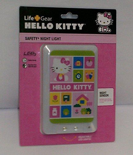 Life Gear Hello Kitty Night Light with Night Sensor and LED - Kitty Light Fixture Hello