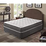 Spring Coil Mattress,Pillow Top ,Pocketed Coil, Orthopedic Full Size Mattress with 5-Inch Split Box Spring, Acura Collection