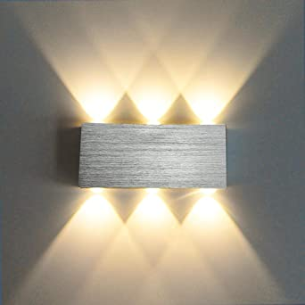Lámpara de pared LED moderna Escalera Ligera Dormitorio Cama Sala de estar Iluminación interior Iluminación interior Corredor ático @ 6W 6 heads_Yellow: Amazon.es: Iluminación
